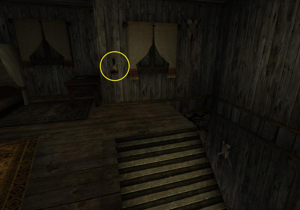 Лампа открывающая дверь в комнату с сундуком с Кровавой чашей в доме Валентино