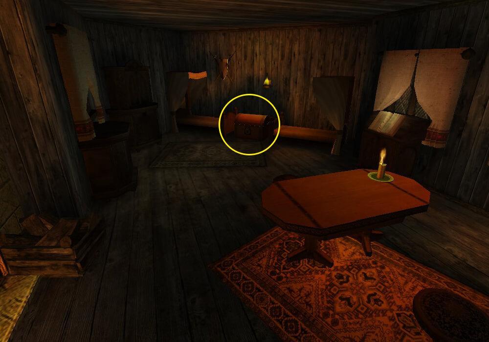 Сундук на втором этаже дома Гербрандта в котором храниться Кровавая чаша
