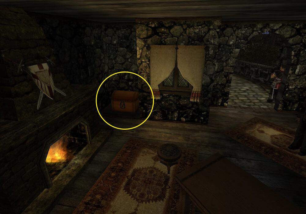 Спрятанный сундук с Кровавым кубком в доме судьи