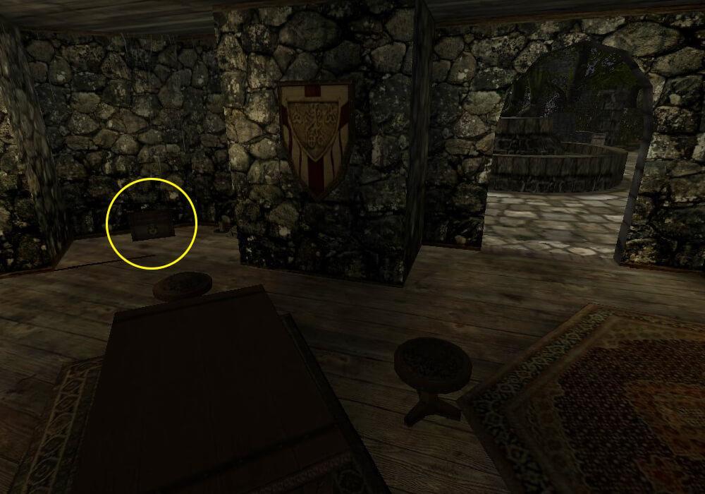 Спрятанный сундук с Кровавой чашей в доме Валентино