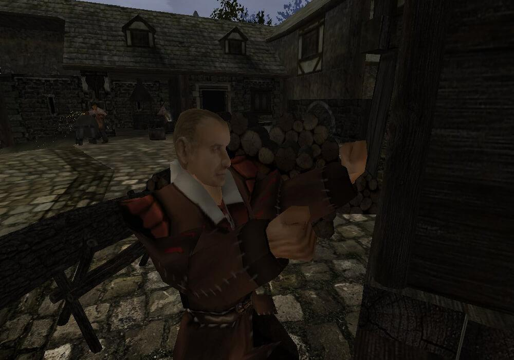 Плотник Торбен собирает шкаф