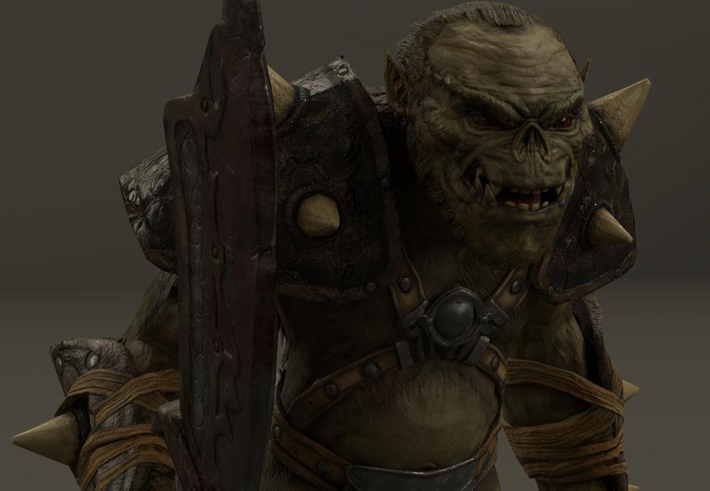 Орк из игры Готика 1 на CryEngine