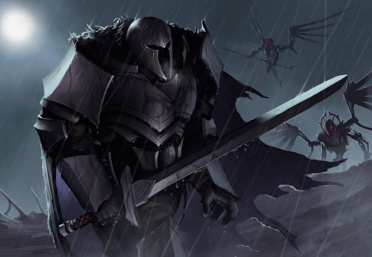 Воин с одноручным мечом