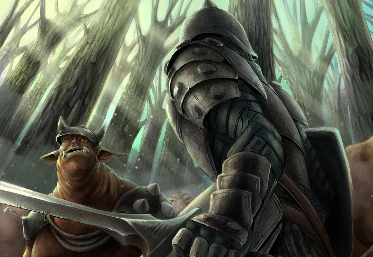 Воин готов вступить в бой