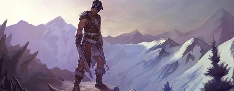 Воин Скайрима с двумя мечами — арт