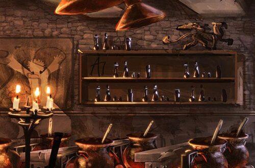 Лавка алхимика с зельями