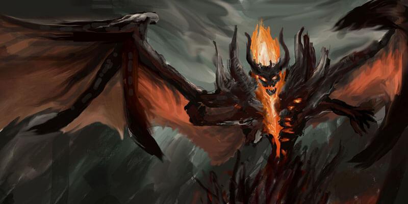 Демон из игры Готика 1