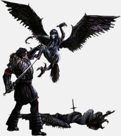 Битва против Гарпий, летающих бестий – видео Готика 1